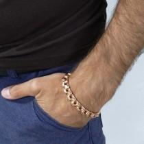 Браслет для мужчины, красное золото, длина 20.5 см