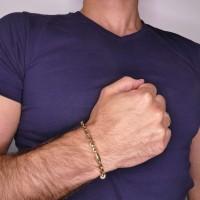 Золотой браслет, желтое золото, длина 21.5 см
