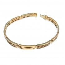 Bracelet for a man, red gold, length 22 cm