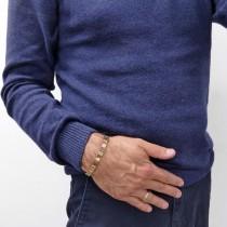 Bracelet for a man, red gold, length 20 cm
