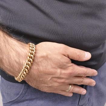 Bracelet for a man, red gold, length 19 cm