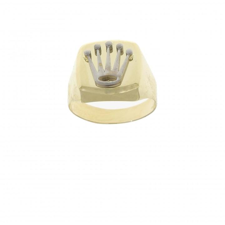 Золотое мужское кольцо, желтое и белое золото 14 карат