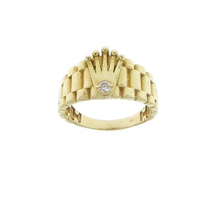 Мужское кольцо с короной