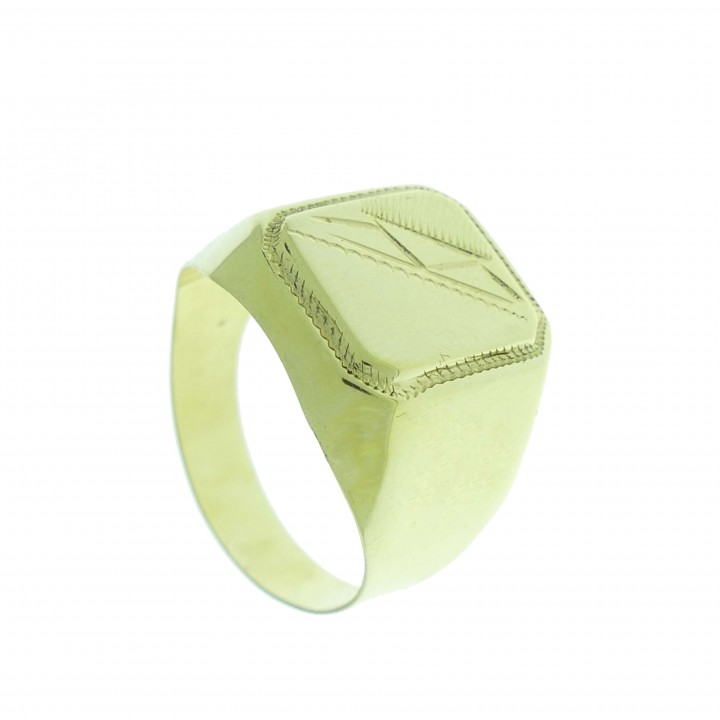 Ring for a man, 14K yellow gold