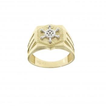 Men's gold ring, 14K yellow gold