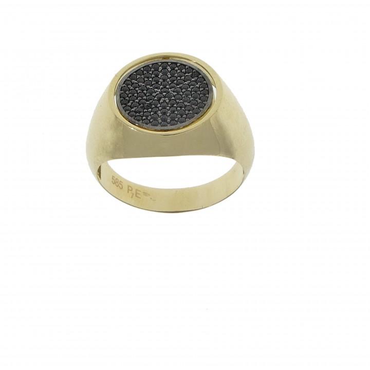 Мужское кольцо двухстороннее
