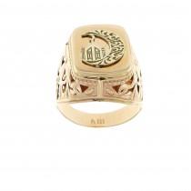 טבעת גברים, זהב אדום 14 קראט