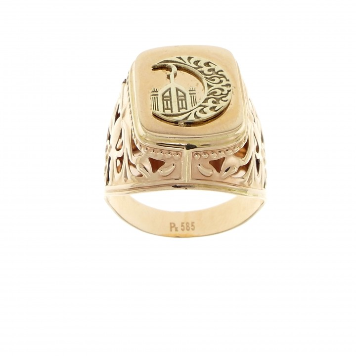 Men's ring, 14K red gold