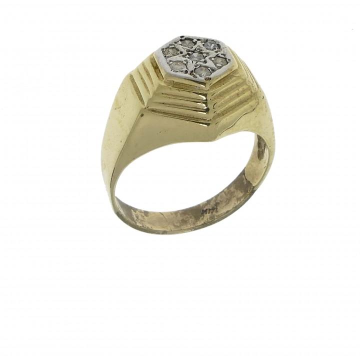 Men's ring with diamonds