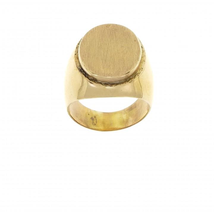 Men's ring, 14K red gold