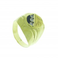 Кольцо для мужчины, желтое золото 14 карат с фианитами