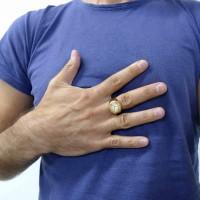 Кольцо для мужчин, желтое и белое золото