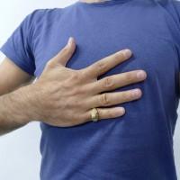 Кольцо для мужчины, желтое золото 14 карат