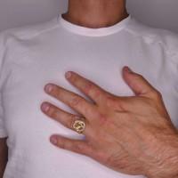Золотое мужское кольцо, желтое золото
