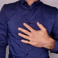 Золотое мужское кольцо, желтое золото 14 карат
