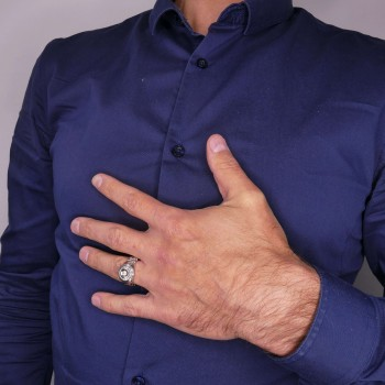 Золотое кольцо для мужчин с бриллиантами