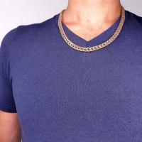 Цепочка для мужчины, красное золото, длина 56 см