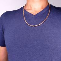 Цепочка для мужчины, красное золото, длина 60 см