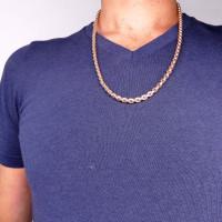 Цепочка для мужчины, красное золото, длина 62 см