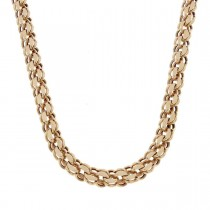 Chain for men, red gold, length 54 cm