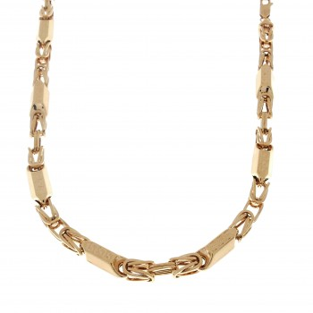 Chain for men, red gold, length 59 cm