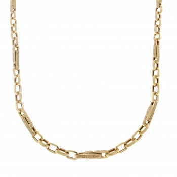 Chain for men, red gold, length 54 cm