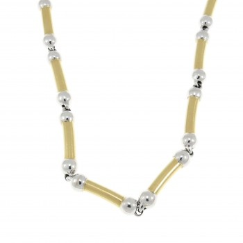 Men's chain, 14K yellow and white gold, length 50 cm