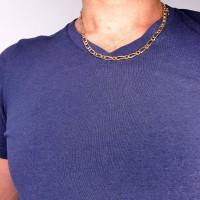 Золотая цепочка мужская, желтое золото 14 карат, длина 50 см