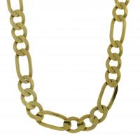 Мужская цепочка, желтое золото 14 карат, длина 56 см