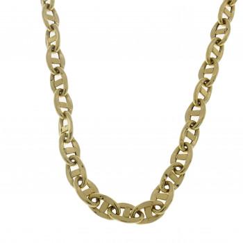 Мужская цепочка, желтое золото 14 карат, длина 58 см