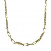 Золотая цепочка мужская, желтое золото 14 карат, длина 59 см