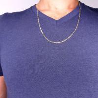 Мужская цепочка, желтое золото 14 карат, длина 60 см