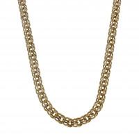 Золотая цепочка Бисмарк, жёлтое золото 14 карат, длина 64 см