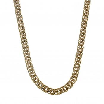 Мужская цепочка Бисмарк, жёлтое золото 14 карат, длина 64 см