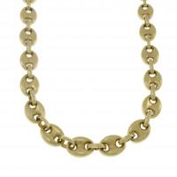 Мужская цепочка, желтое золото 14 карат, длина 65 см