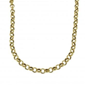 Мужская цепочка, желтое золото 14 карат, длина 100 см