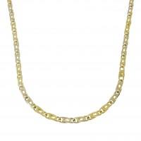 Золотая цепочка мужская, желтое золото 14 карат, длина 46 см