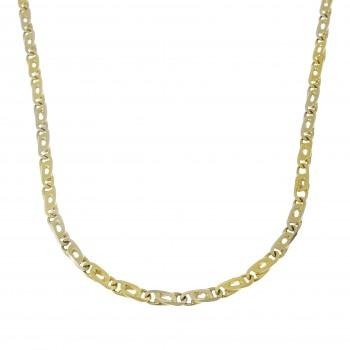 Мужская цепочка, желтое золото 14 карат, длина 46 см