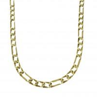 Золотая цепочка мужская, желтое золото 14 карат, длина 49 см
