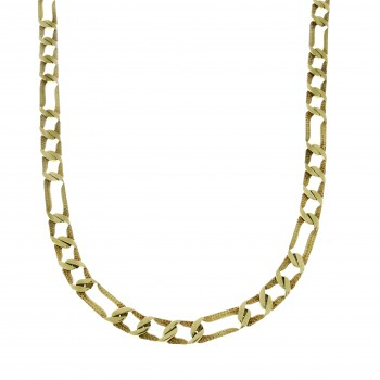 Мужская цепочка, желтое золото 14 карат