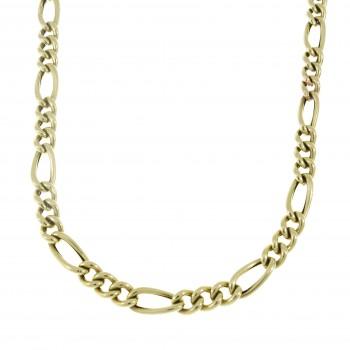 Мужская цепочка, желтое золото 14 карат, длина 54 см