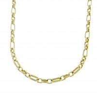 Золотая цепочка мужская, желтое золото 14 карат, длина 55 см