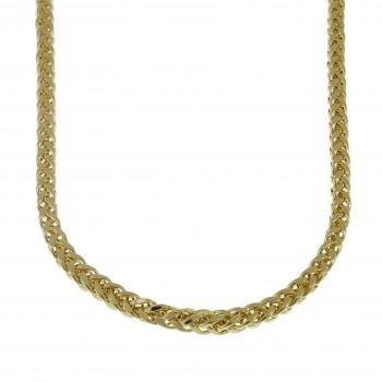 Мужская цепочка, желтое золото 14 карат, длина 55