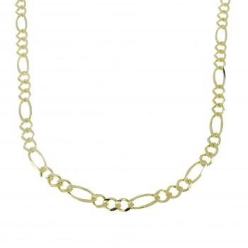 Мужская цепочка, жёлтое золото 14 карат