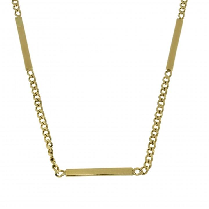 Золотая цепочка мужская, желтое золото 14 карат, длина 58 см