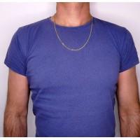 Цепочка для мужчины, желтое золото 14 карат, длина 60