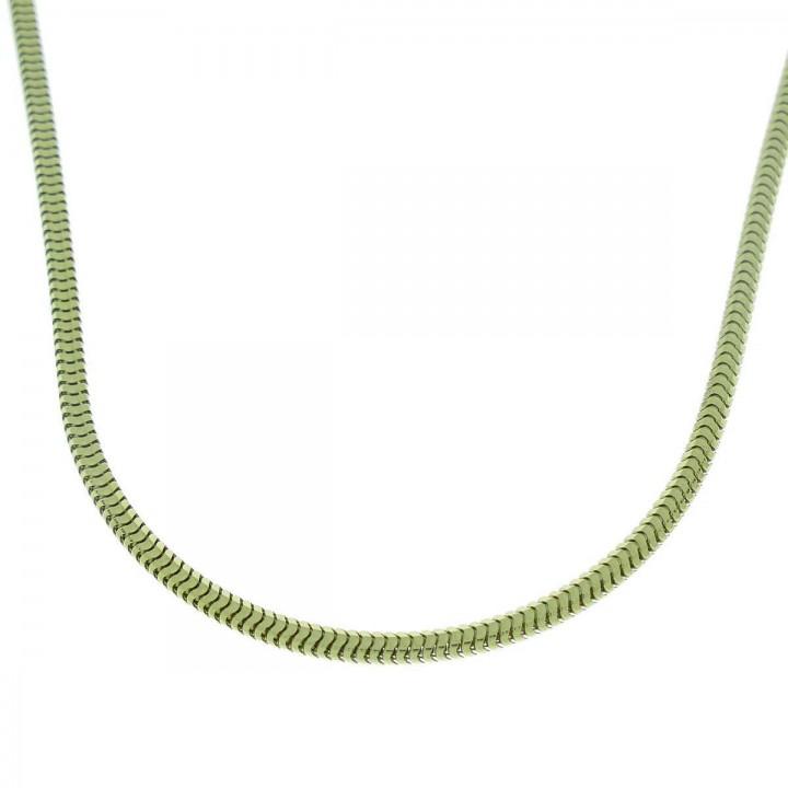 Цепочка для мужчины, желтое золото 14 карат, длина 64 см