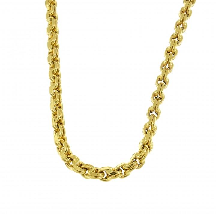 Мужская цепочка, желтое золото 14 карат, длина 64 см
