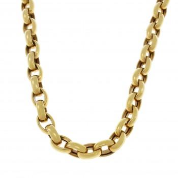 Мужская цепочка, желтое золото 14 карат, длина 50 см
