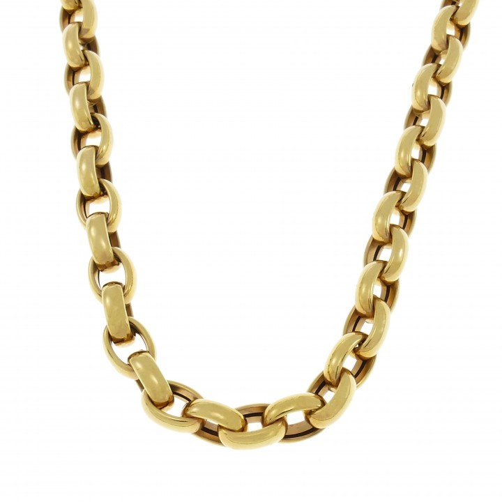 Men's gold chain, 14K yellow gold, length 50 cm